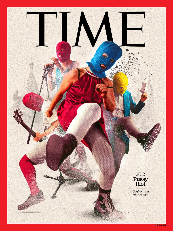 Una delle nuove copertine del Time per il progetto 100 Women of The Year è dedicata alle attiviste del movimento Pussy Riot (courtesy: TIME)