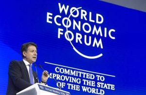 Giuseppe Conte a Davos, 2019