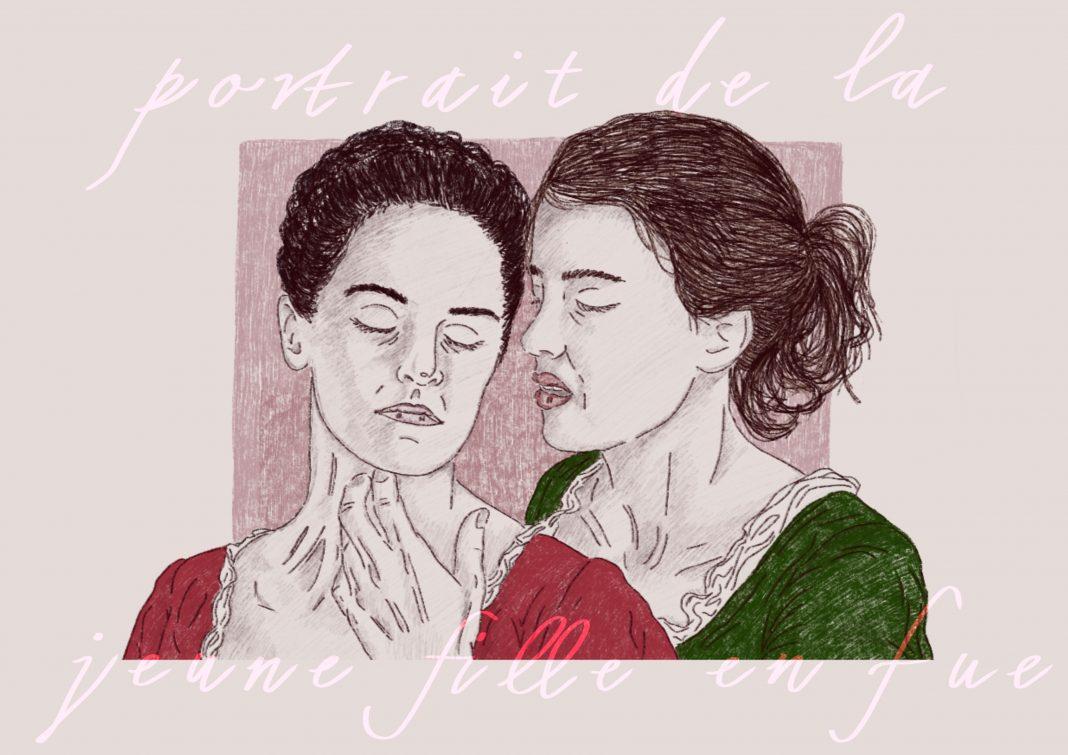 Uno dei lavori di disegniniesterini ispirato al cinema. Qui Portrait de la jeune fille en fue (Courtesy of the artist)