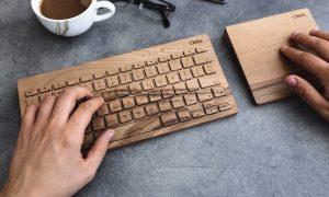 Orée Wooden Keyboard, design Orée Artisans