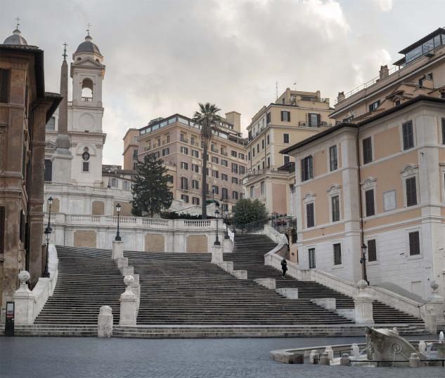 Piazza di Spagna a Roma, ai tempi del coronavirus
