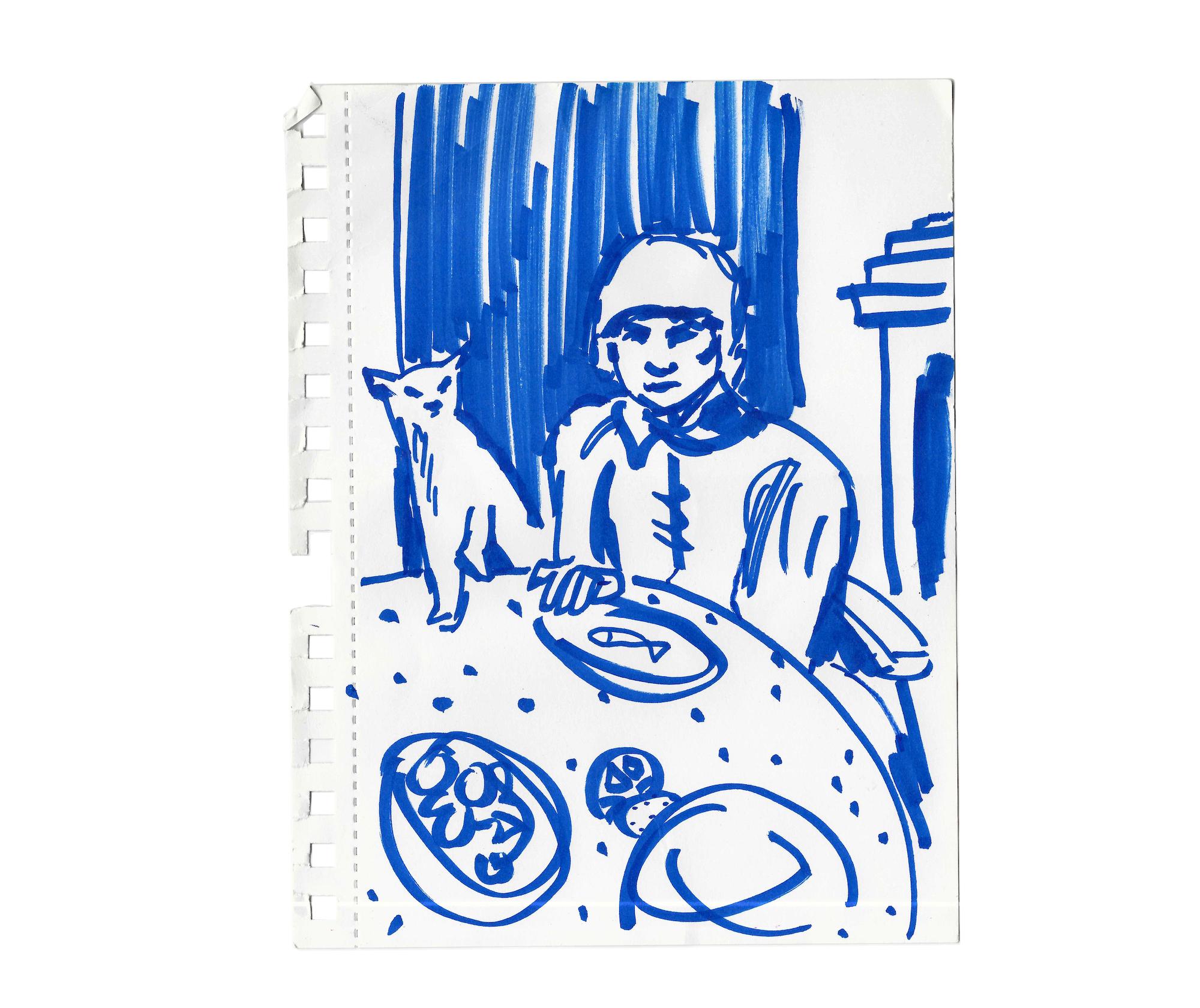 """""""Omaggio a Bonnard #3 La donna e il gatto"""" di Chiara Fazi"""