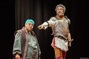 Serra Ylmaz e Alessio Boni nel Don Chisciotte