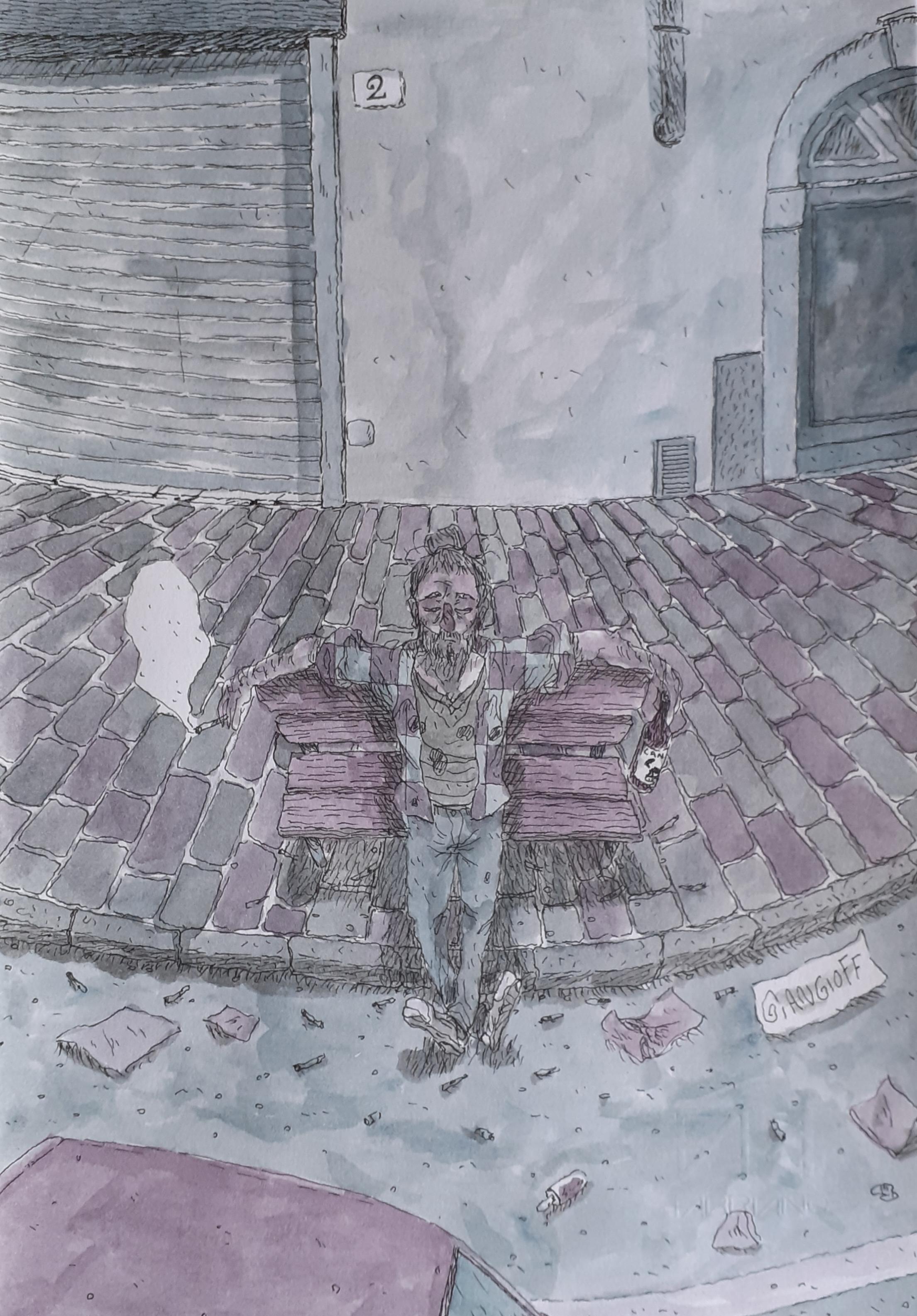"""Cristo su panchina"" di Giangioff"