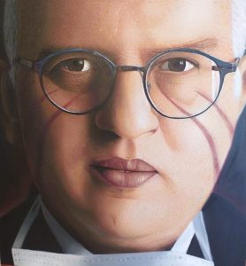 JORIT, ritratto di Paolo Antonio Ascierto, 2020 per Art to stop covid, Blindarte