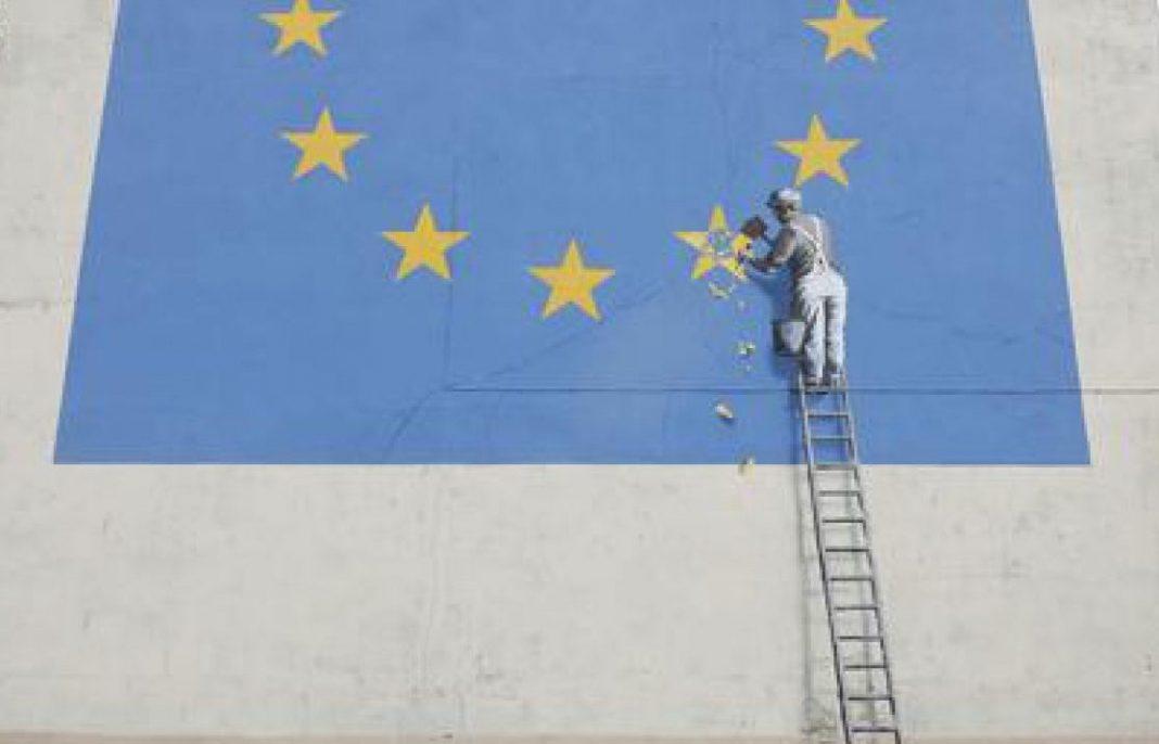 Il murale di Banksy dedicato all'Europa