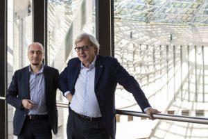 Gianfranco Maraniello con l'attuale Presidente del MART, Vittorio Sgarbi