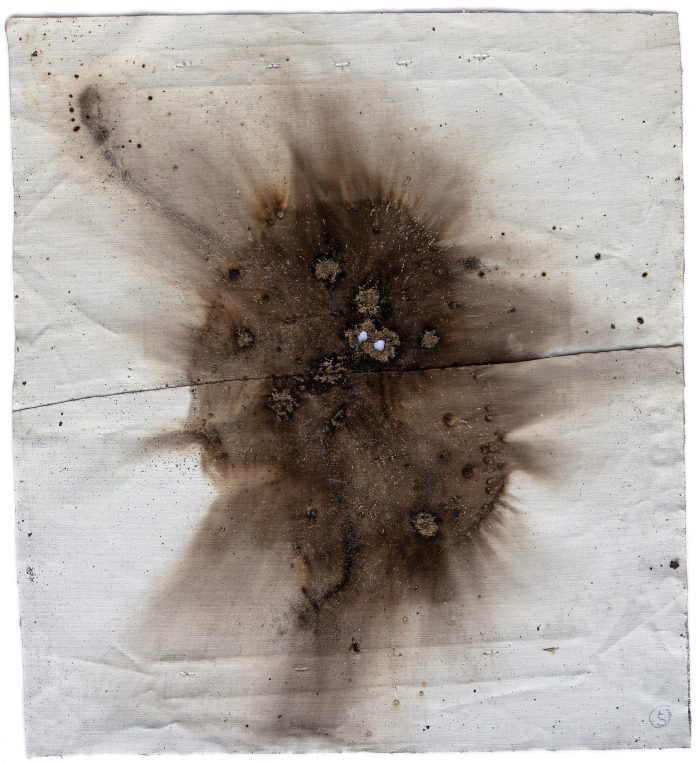 Cai Guo-Qiang, Gunpowder test from Naples n.7, 2018