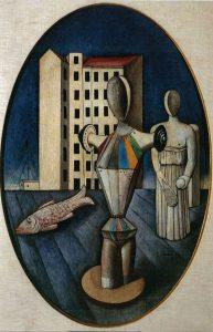 Carlo Carrà, L'ovale delle apparizioni, 1918