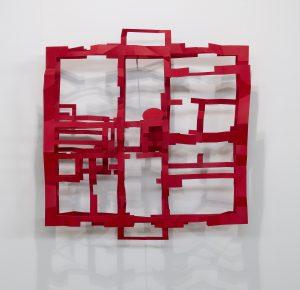 Fabio's house. 2019, Acciaio vernice, 125x117x30, Coutesy Fabio e Virginia Gori