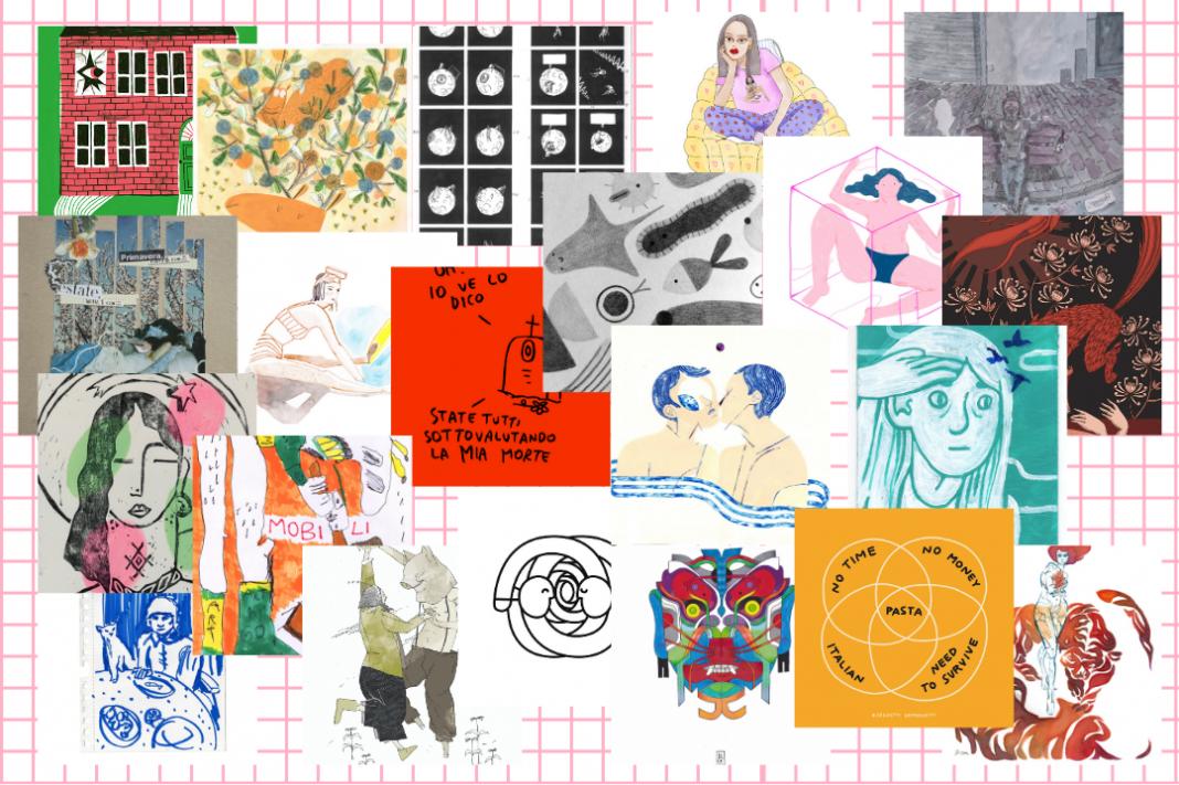 Ecco tutte le opere messe all'asta da exibart x Charity Stars: 21 disegni d'artista a sostegno dell'emergenza Covid-19