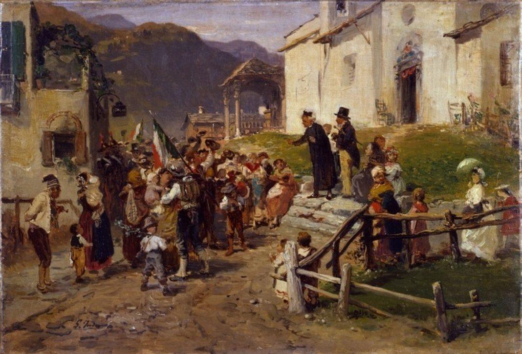 Gerolamo Induno, The Volunteers Bid Farewell, 1877-78, oil on canvas, Collection Fondazione Cariplo, Milan