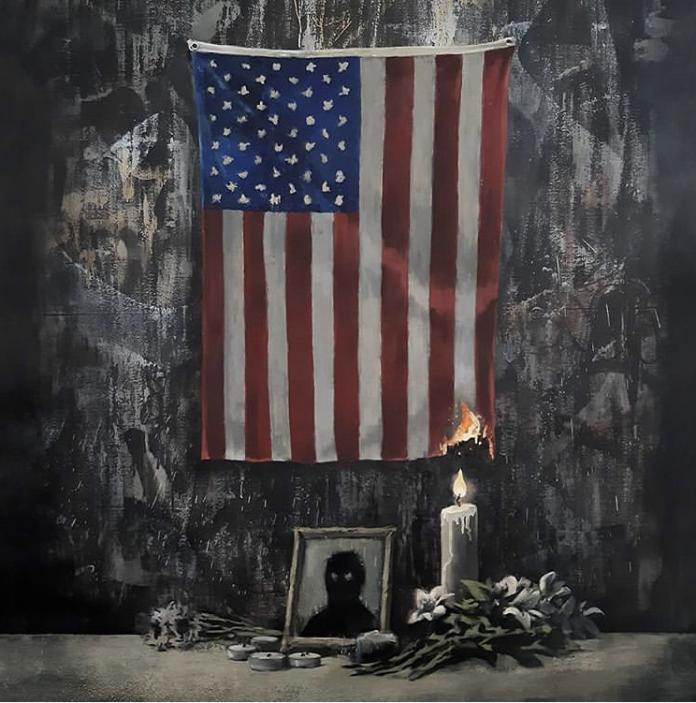 L'opera di Banksy per George Floyd
