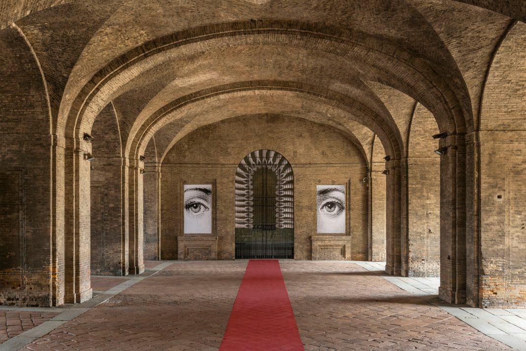 Veduta mostra Fornasetti Theatrum Mundi alla Pilotta di Parma