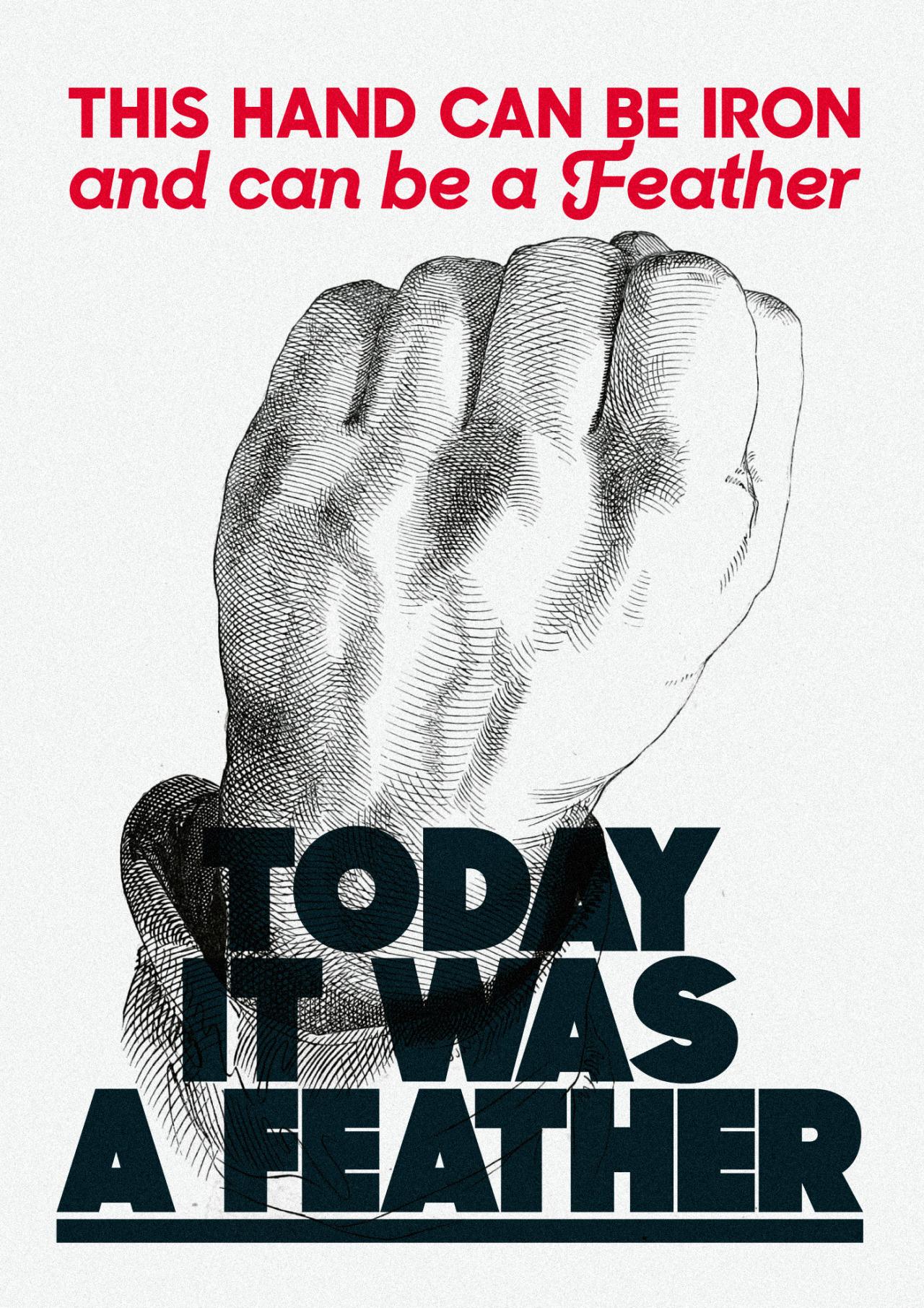 Uno dei poster realizzati da Testi Manifesti (per cortesia dell'autore).