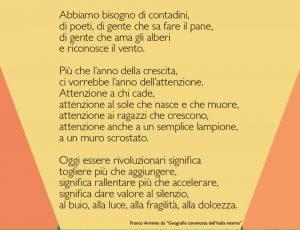 Geografia Commossa dell'Italia Interna, Franco Arminio