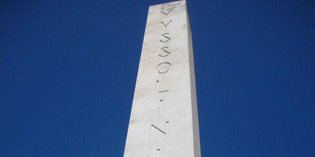 L'obelisco dedicato a Mussolini al Foro Italico, Roma