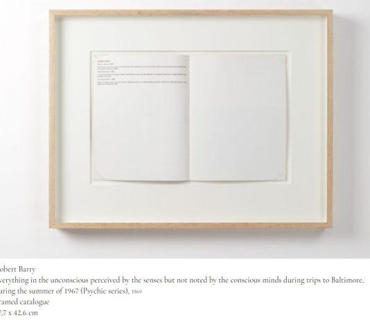Beyond, Instead, Possible: Robert Barry e la nascita dell'arte concettuale