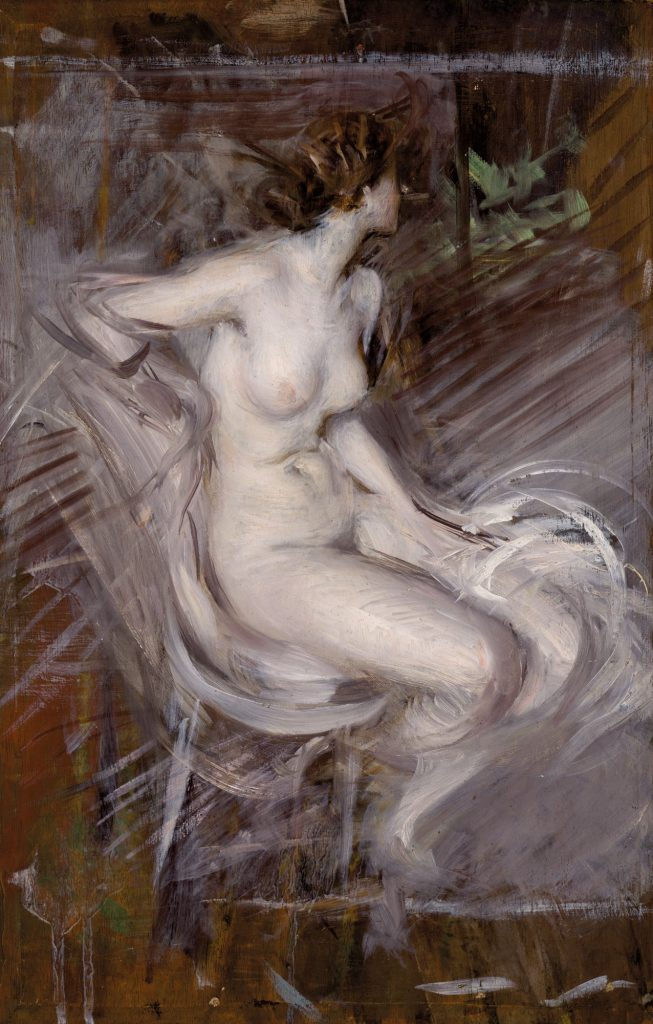Giovanni Boldini, Nudo di Giovane Seduta