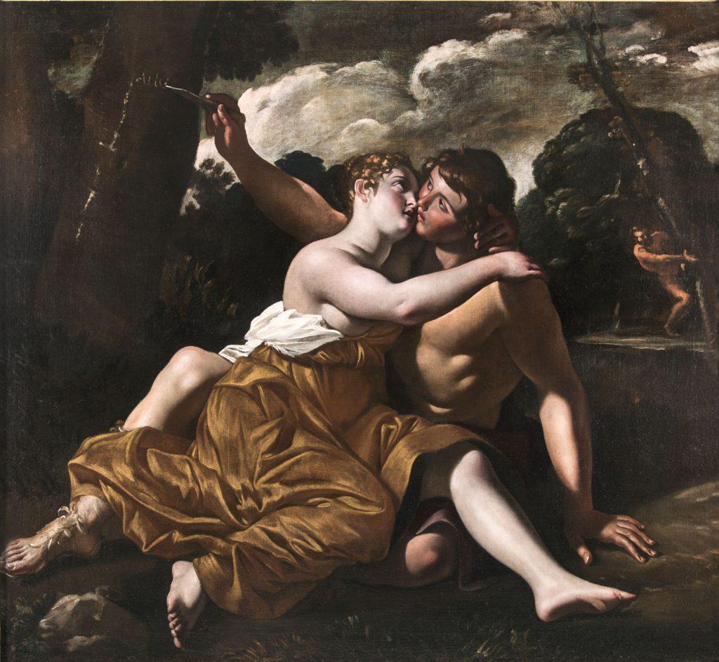 Il bacio di Angelica e Medoro, Giovanni Lanfranco. Alessandra Di Castro Antichità, Roma
