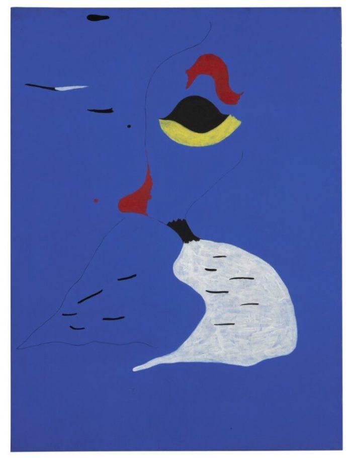 JOAN MIRÓ, PEINTURE (FEMME AU CHAPEAU ROUGE), 1927. Venduta per £22,302,140