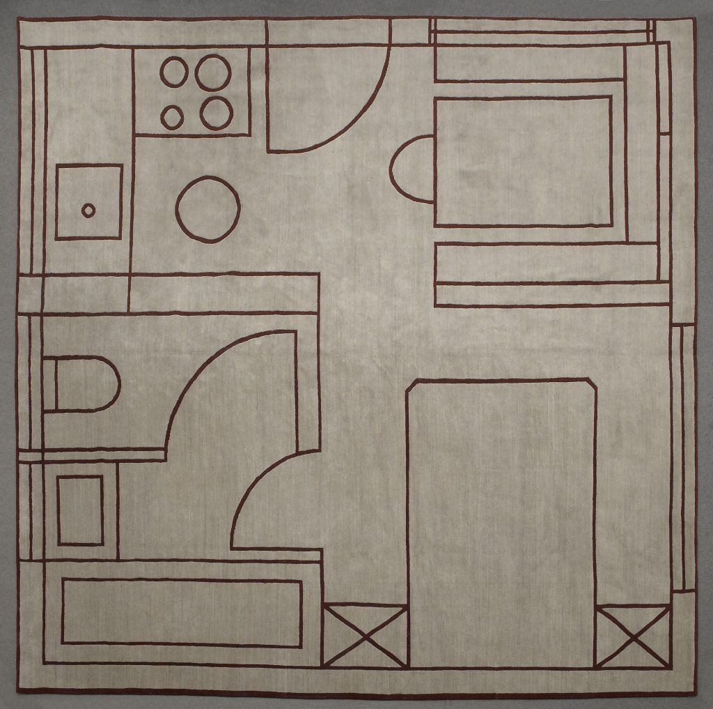 "Martino Gamper, tappeto ""House Plan"" (2010), in asta da Christie's Italia"
