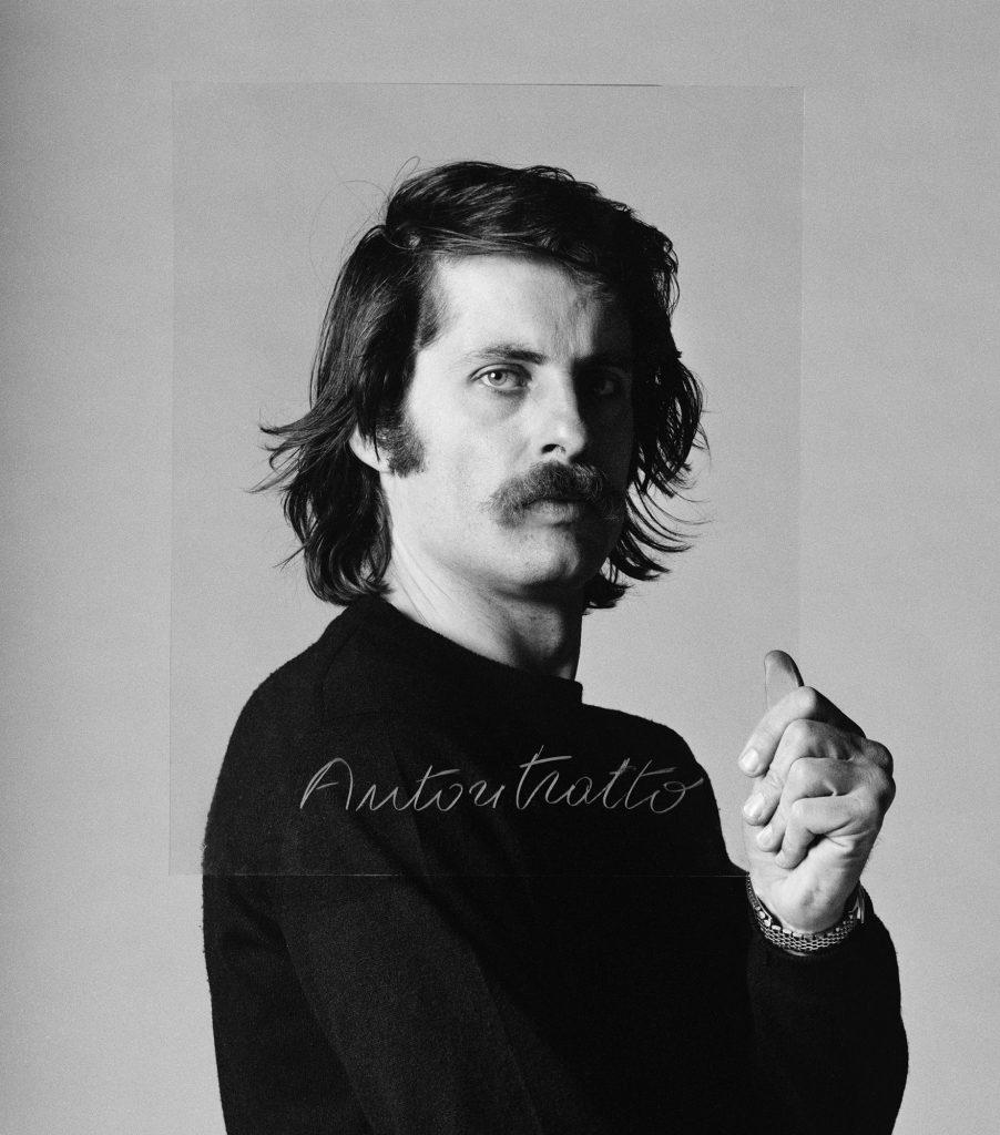 Cesare Tacchi, Painting performance in studio, 1972 Foto di Elisabetta Catalano