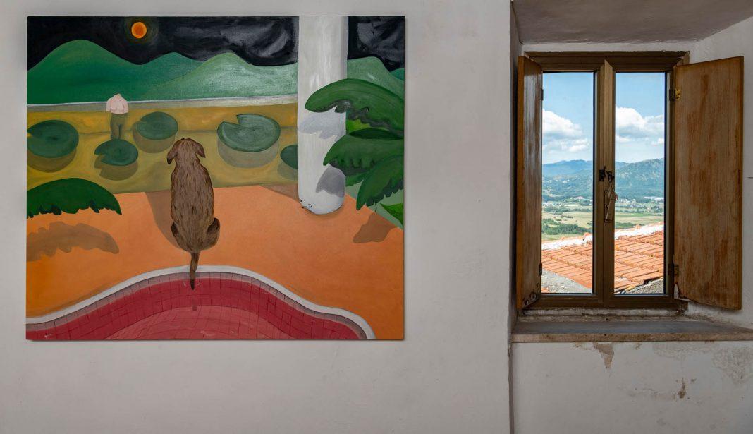 Installation view a Straperetana. Produttori di Silenzio, a cura di Saverio Verini in collaborazione con Matteo Fato, 2020, Pereto (AQ) Photo Credits: Giorgio Benni