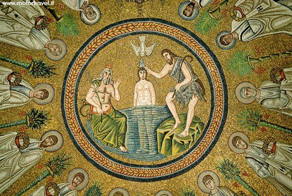 Battesimo di Cristo, Battistero Neoniano, Ravenna