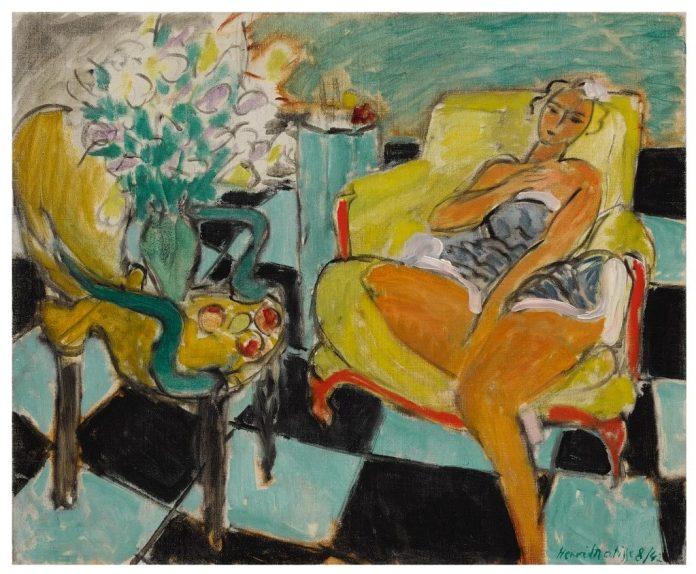 Henri Matisse, Danseuse Dans un Intérieur, Carrelage Vert et Noir (1942), battuta da Sotheby's lo scorso 28 luglio per £6,5 milioni