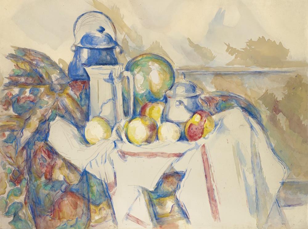 Paul Cézanne, Nature morte avec pot au lait, melon et sucrier (1900-1906). L'opera sarà battuta all'Evening Sale di Christie's il prossimo 6 ottobre