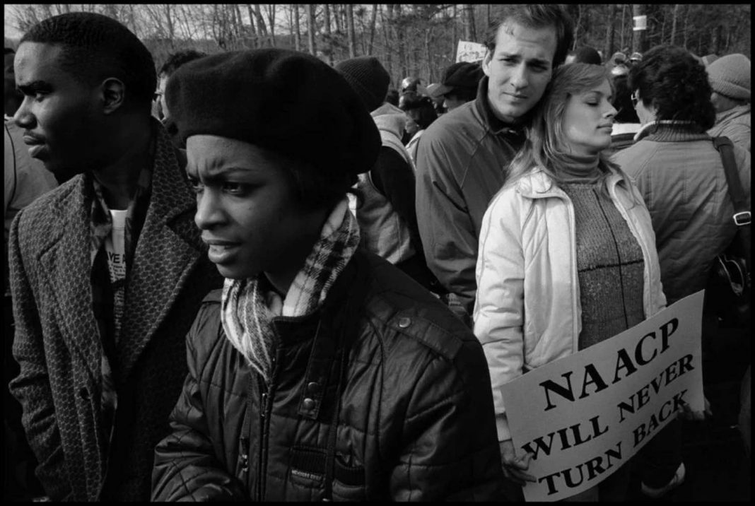 Anti-racism march, Forsyth County, Georgia, USA, 1987 © Eli Reed / Magnum Photos