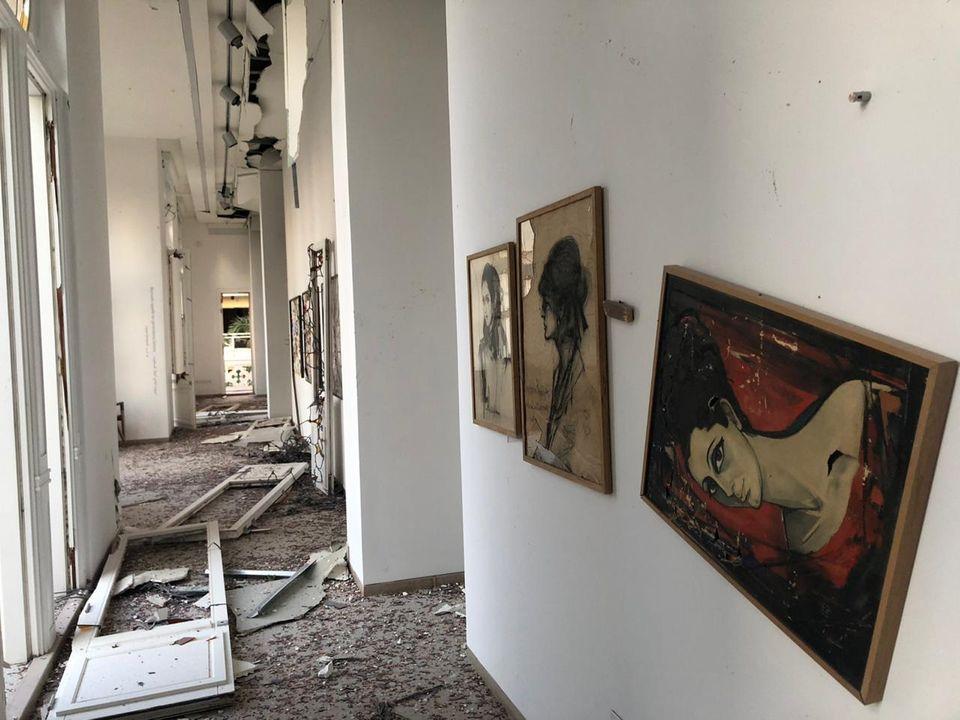 Il Museo Sursock di Beirut devastato dalle esplosioni del 4 agosto © Photo: Marie Nour Hechaime