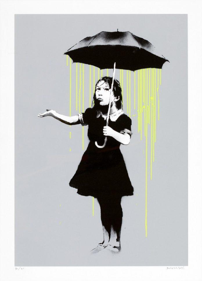 Banksy, Nola (Green Rain). Sotheby's