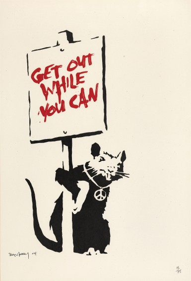 Banksy, Get out while you can. Sotheby's