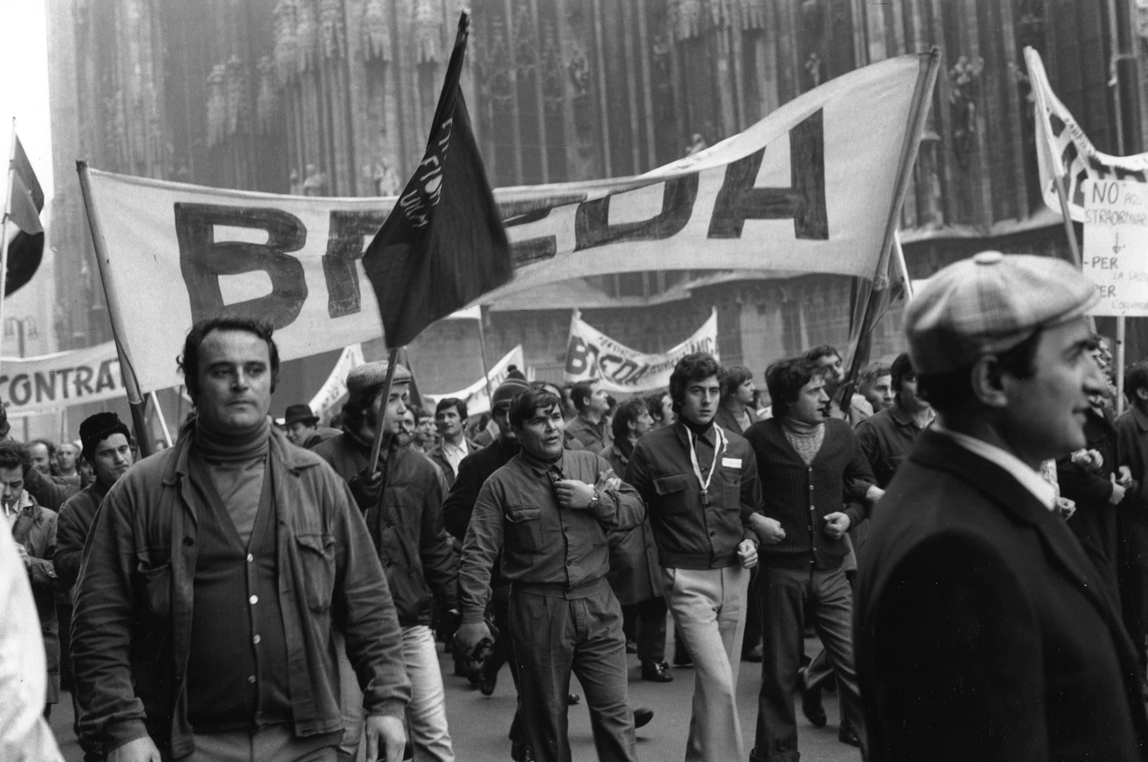 Giovanna Borgese, Manifestazione operaia, Milano, 1972