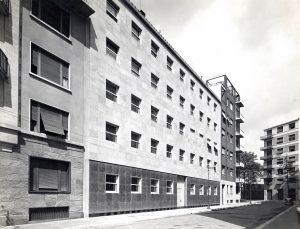 Casa Portaluppi in una foto d'epoca di Antonio Paoletti