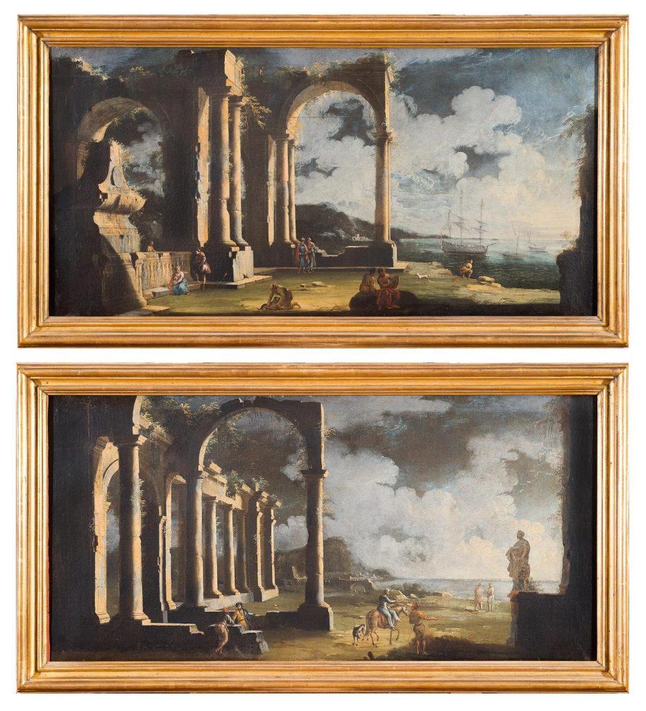 Due capricci architettonici di Gennaro Greco, detto il Mascacotta. Blindarte