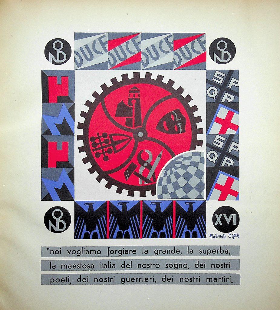 Lotto 127, Fortunato Depero, 96 tavole a colori per i dopolavoro aziendali in Italia. Il Ponte Casa d'Aste
