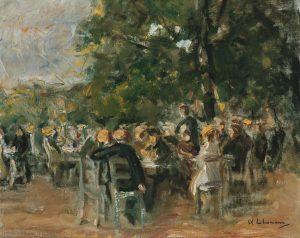 Max Liebermann, Birreria all'aperto, ca. 1915