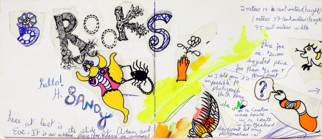 Niki de Saint-Phalle, Greeting card (Brooks). Blindarte