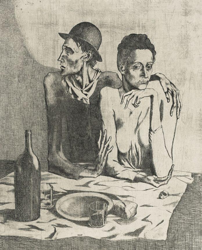Pablo Picasso, Le Repas frugal, da La suite des Saltimbanques (1904) | Christie's