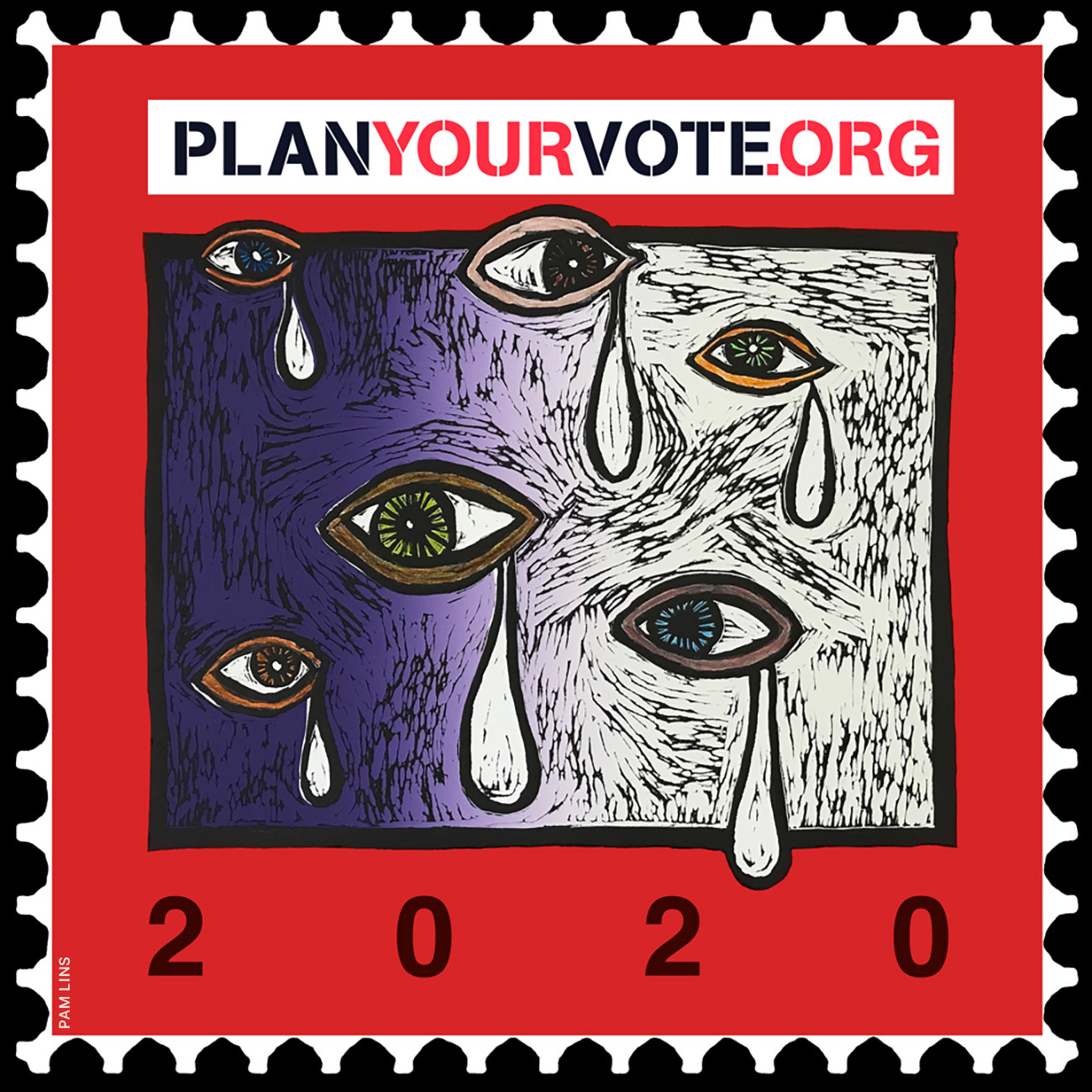 Pan Lins x Plan Your Vote (courtesy: Planyourvote.org).