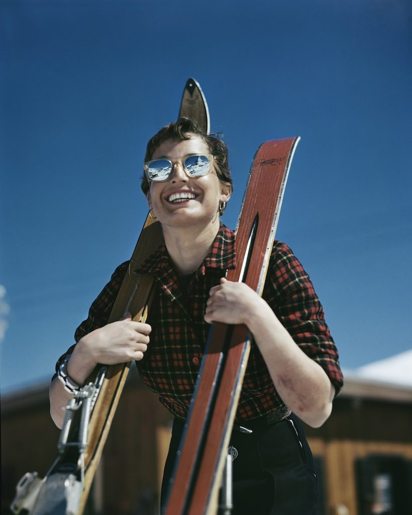 Robert Capa. L'americana Judith Stanton, Zermatt, Svizzera, 1949-50. Credits Robert Capa International Center of Photography Magnum Photos