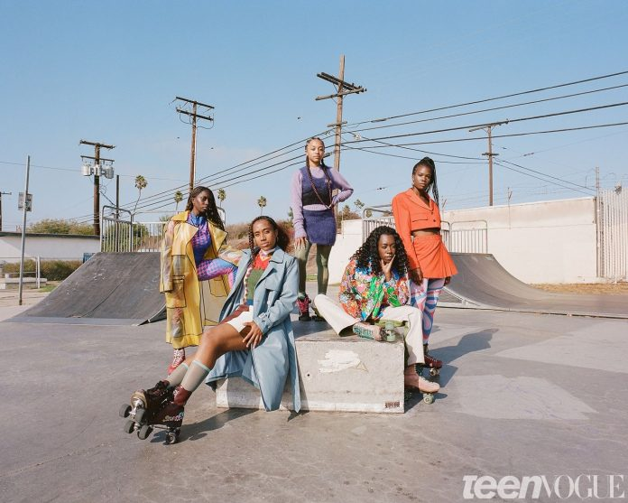 Donne nere sui pattini a rotelle (Courtesy: Teen Vogue)