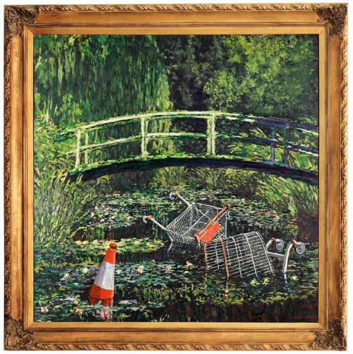 Banksy, Show me the Monet, 2005. Est. £3 million–5 million ($3.8 million–6.4 million). Courtesy Sotheby's