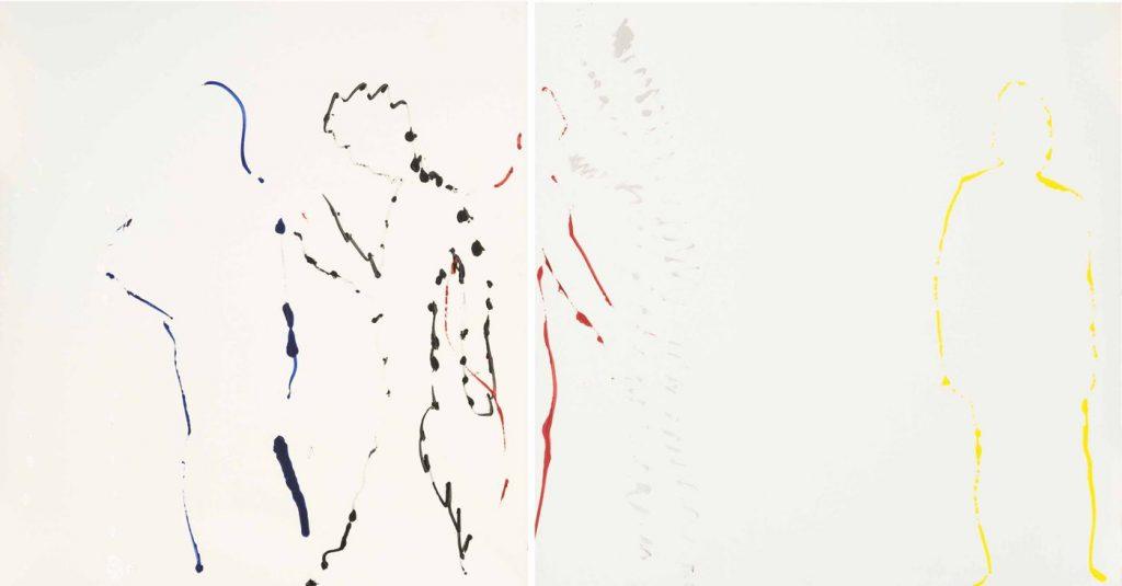 Corrado Levi, Tracce di nudi, (1982). RIBOT gallery