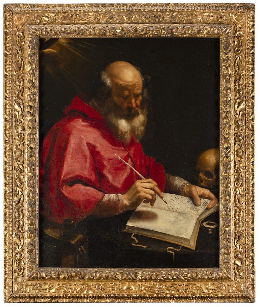 Ignoto maestro caravaggesco, San Girolamo nello studio (lotto 80, € 20.000-25.000). Il Ponte Casa d'Aste