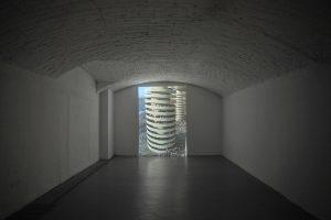 """Paola Di Bello, Video-Stadio, 1997, video,7'25"""" min., stereo, Galleria Bianconi Courtesy l'Artista e Galleria Bianconi Ph. Bruno Bani"""