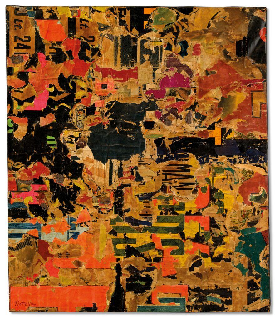 Mimmo Rotella, Un po' lavorato (1959). Christie's